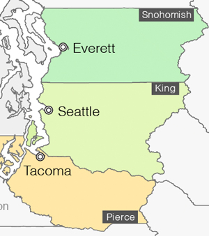 Seattle area map