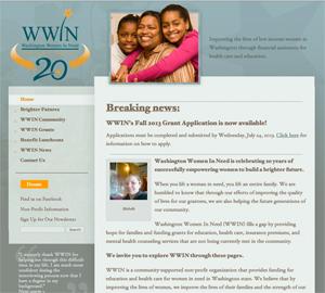 Washington Women in Need org website image