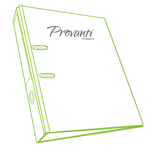 Provanti Designs - Specification notebook graphic