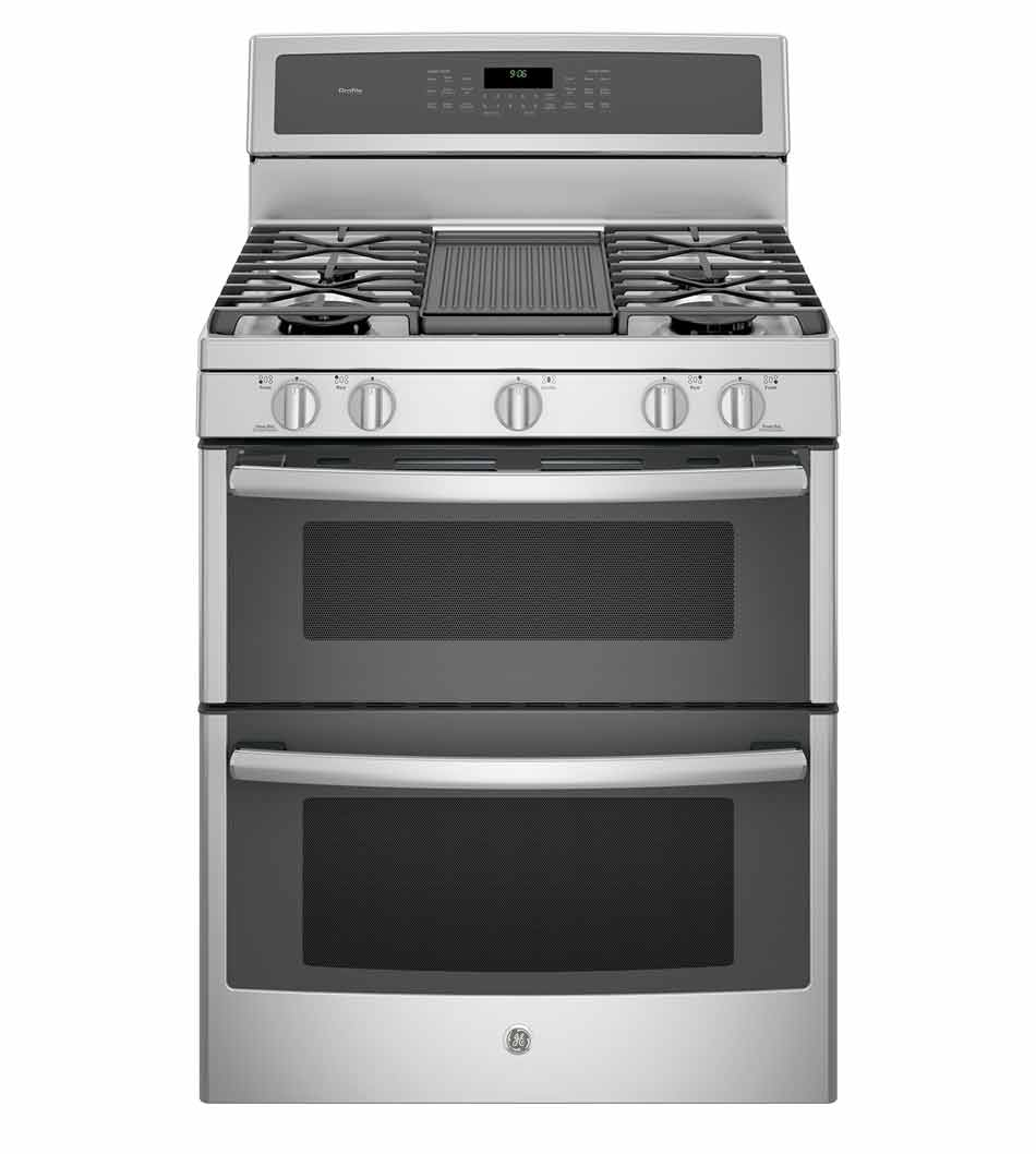 GE Profile™ Series Free-Standing Double Oven Convection Range